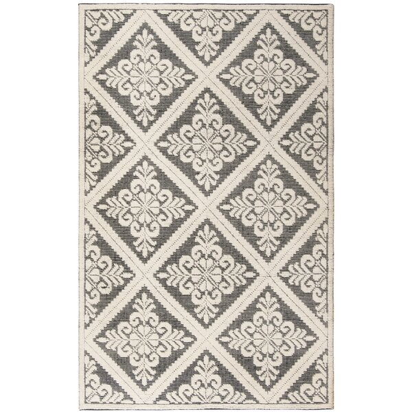 Kelty Hand-Woven Wool Ivory Area Rug by Ophelia & Co.