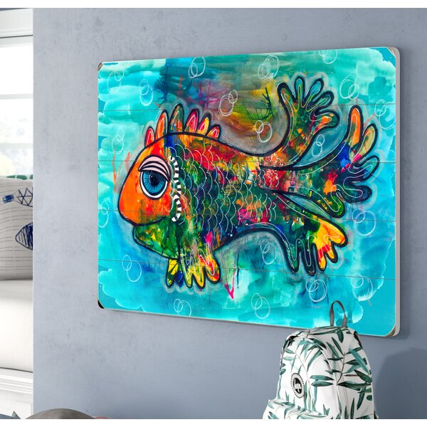Colorful Fish Wall Plaque by Viv + Rae