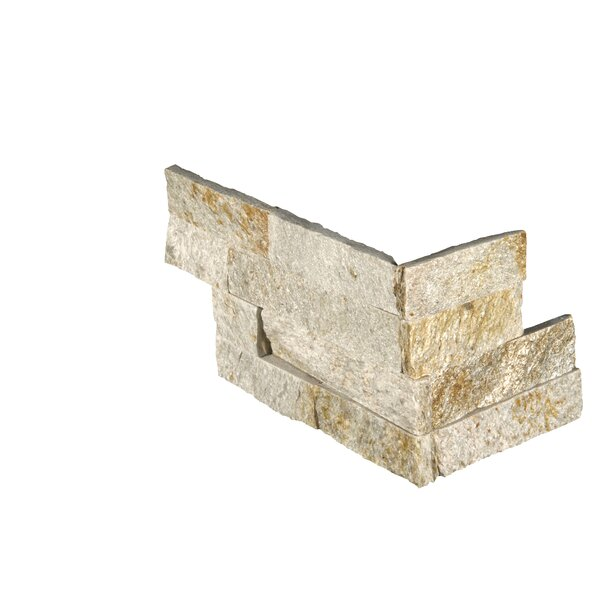 6 x 18 Quartzite Splitface Tile in Gold/Cream by MSI