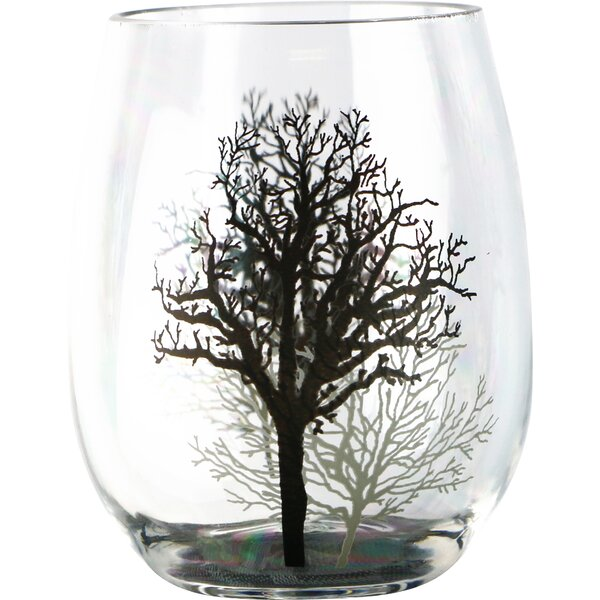 Timber Shadows 16 oz. Acrylic Stemless Wine Glass (Set of 4) by Corelle