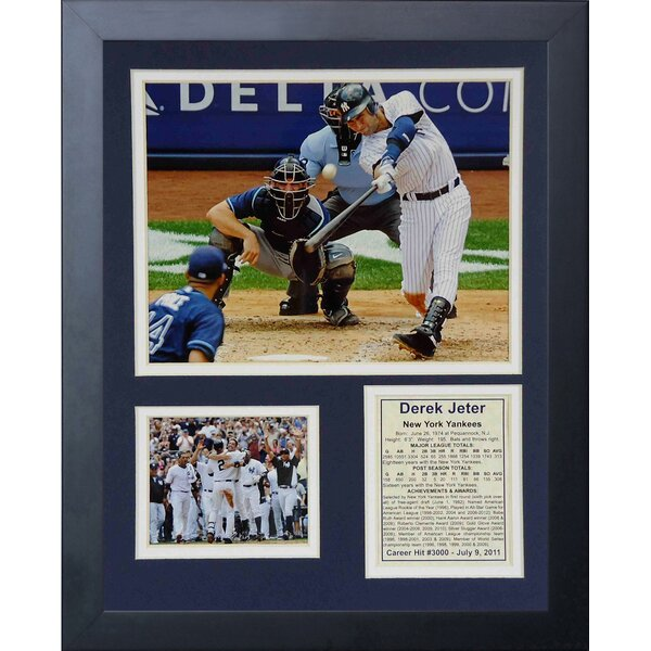 Derek Jeter 3000th Hit Framed Memorabilia by Legends Never Die