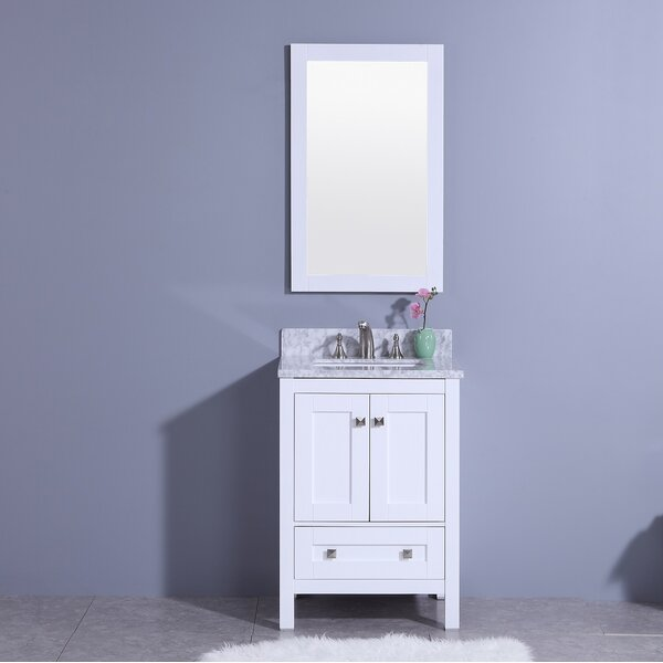 @ Blueridge 25 Single Bathroom Vanity Set with Mirror by Winston Porter| #$0.00!