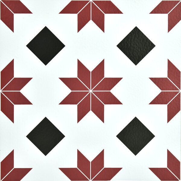 Orion 12 x 12 Vinyl Tile in Red by WallPops!