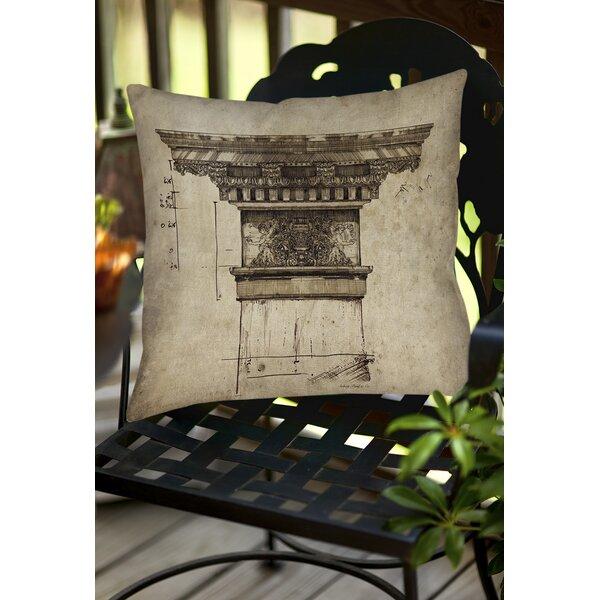 Column I Indoor/Outdoor Throw Pillow by Manual Woodworkers & Weavers
