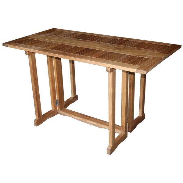 Hatteras Folding Extendable Solid Wood Dining Table by Chic Teak