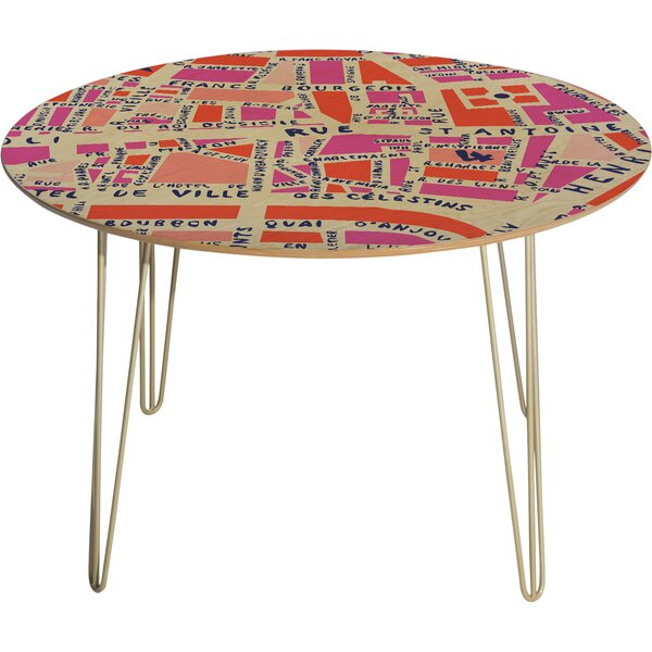 Holli Zollinger Paris Map Pink Dining Table by Deny Designs
