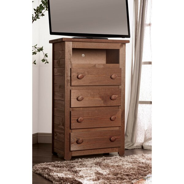 Walpole Wooden 4 Drawer Chest by Millwood Pines