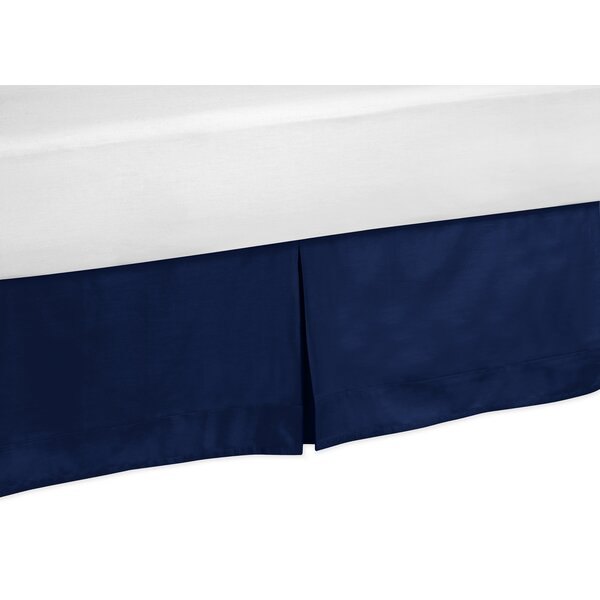 Solid Navy Blue Toddler Bed Skirt by Sweet Jojo Designs