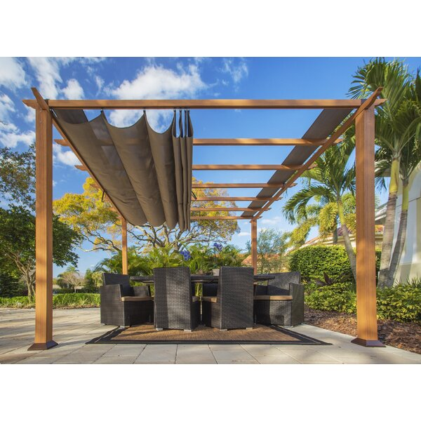 Valencia 11.5 Ft. W x 11.5 Ft. D Metal Pergola by Paragon-Outdoor