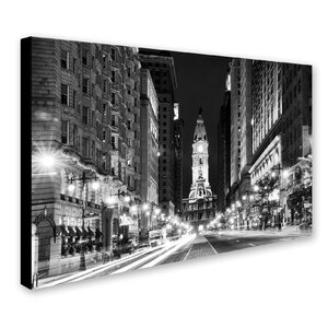 'City Hall Philadelphia' Photographic Print on Wrapped Canvas by Zipcode Design