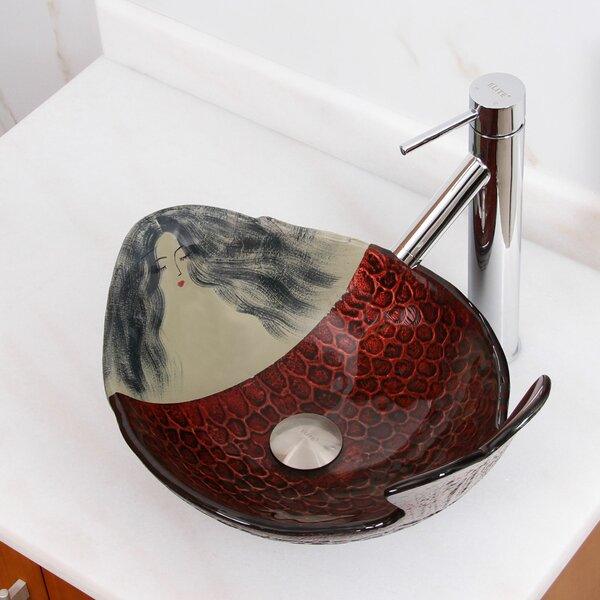 Elite Glass Oval Vessel Bathroom Sink by Elimaxs