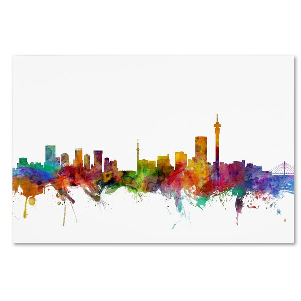 Trademark Art Johannesburg South Africa Skyline By Michael