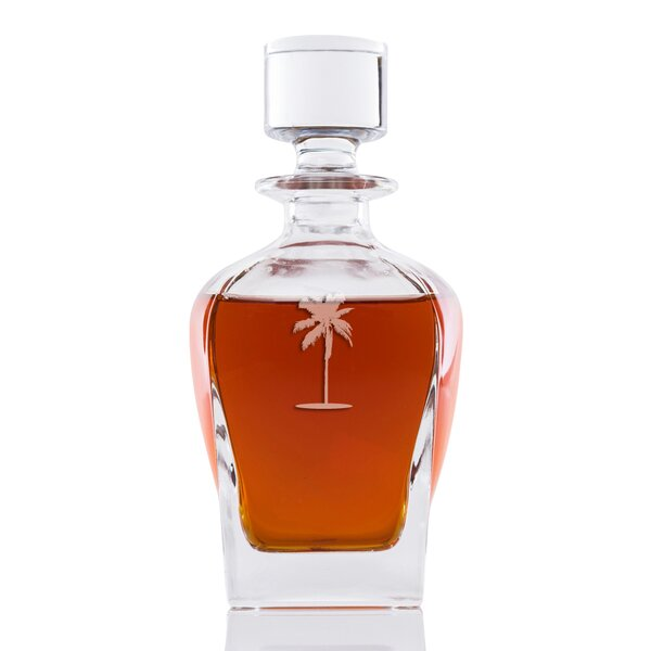 Bethesda Palm Tree Whiskey 24 oz. Decanter by Bay Isle Home