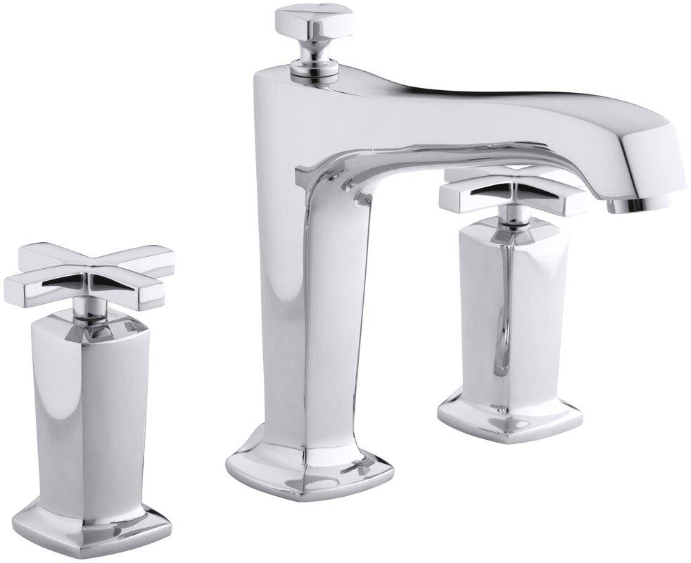 deck mount tub faucet with diverter. Margaux Deck Mount Bath Faucet Trim for High Flow Valve with Diverter Spout  and Kohler