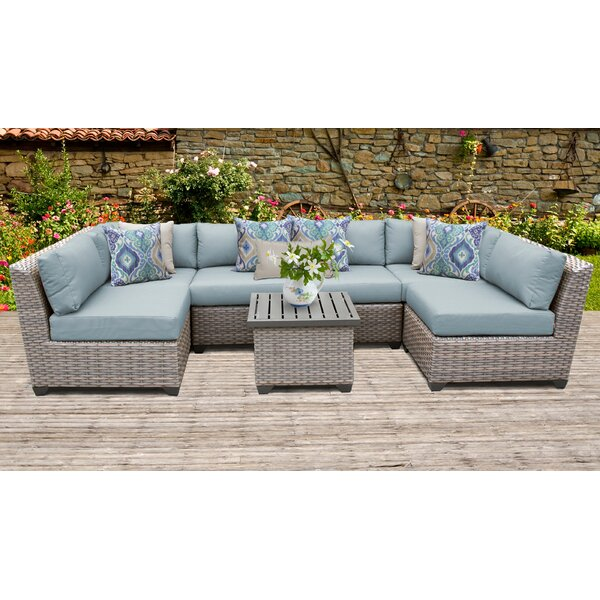 Brennon 7 Piece Sectional Seating Group with Cushions