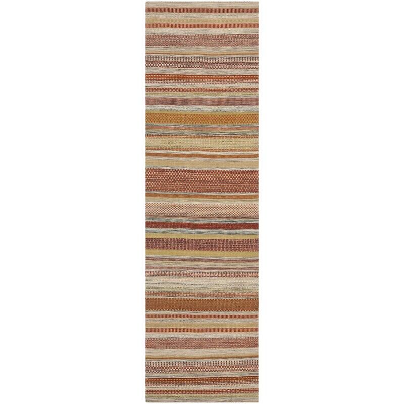 Safavieh Striped Kilim Handwoven Flatweave Wool Brown Beige Area Rug Reviews Wayfair