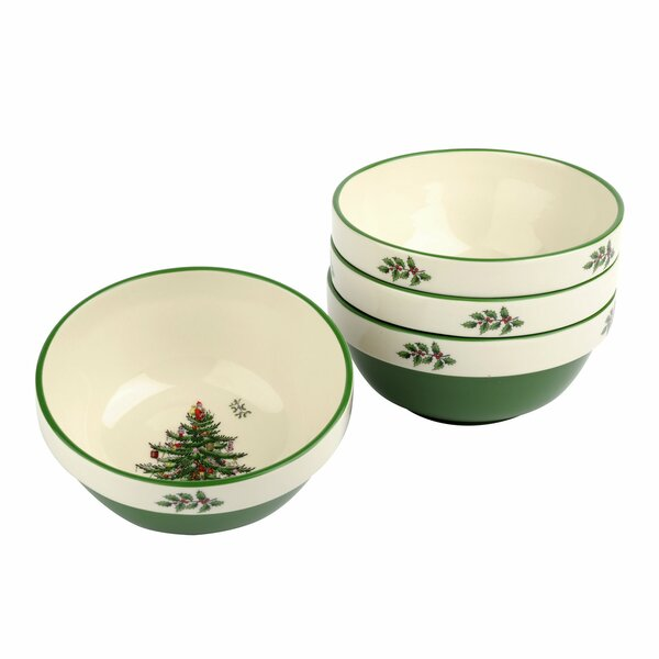 Christmas Tree Stacking Dining Bowl (Set of 4) by