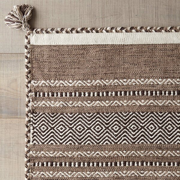 Hand Woven Brown Area Rug by Surya