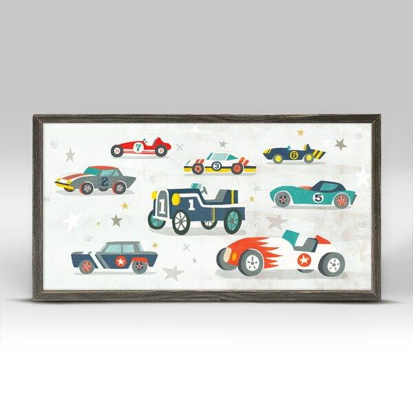 Crutchfield Vintage Racecar by Irene Chan Mini Framed Canvas Art by Harriet Bee