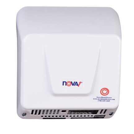Nova 1 Hand Dryer in Aluminum White by World Dryer