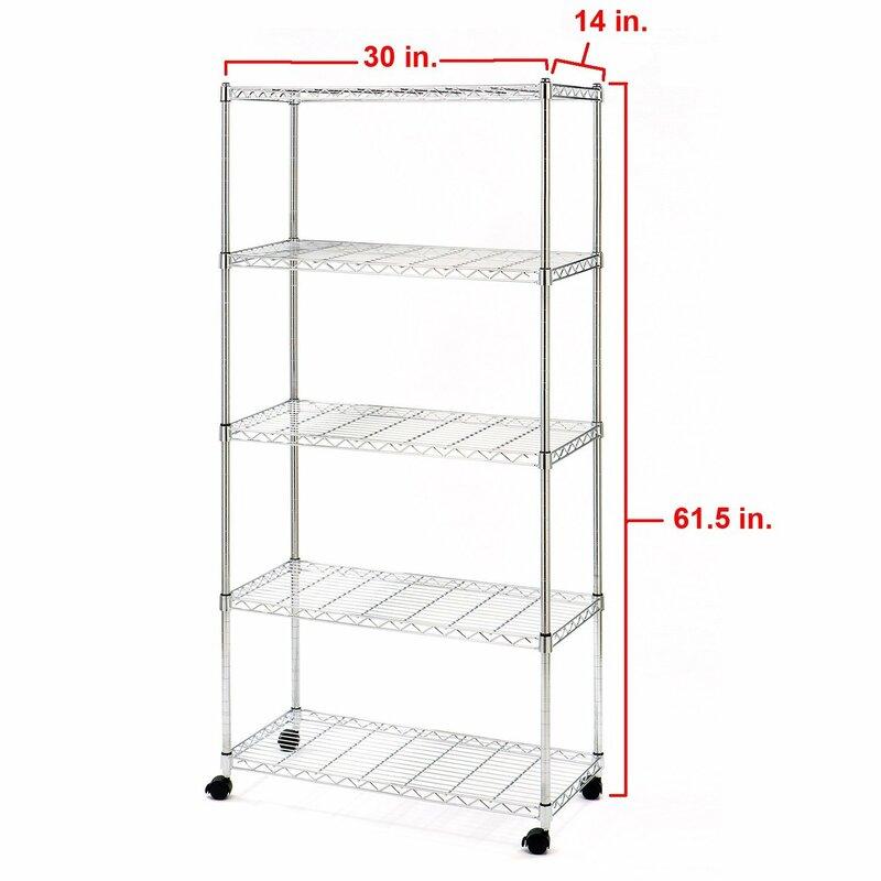 Wayfair Basics™ Wayfair Basics 5 Shelf Wire Shelving Unit & Reviews ...