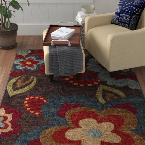 Empyrean Brown/Gold Area Rug by Red Barrel Studio