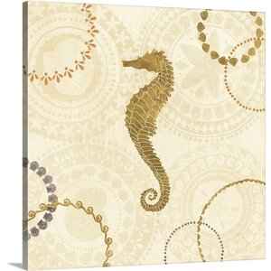 'Undersea II' by Veronique Charron Graphic Art on Wrapped Canvas in Gold by Great Big Canvas