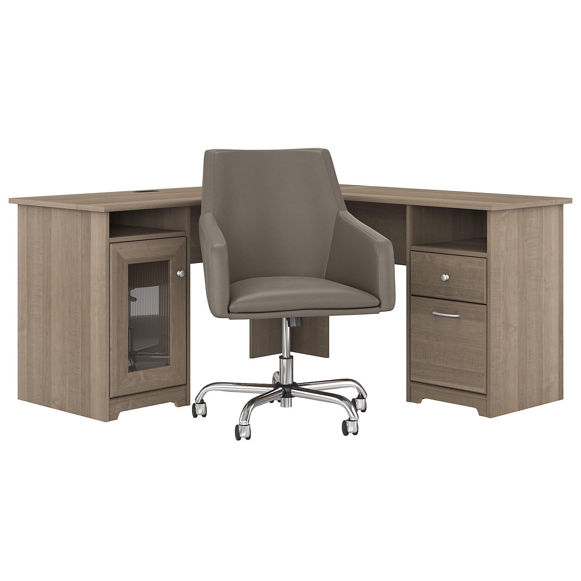 Red Barrel Studio® Hillsdale L-Shape Desk and Chair Set & Reviews
