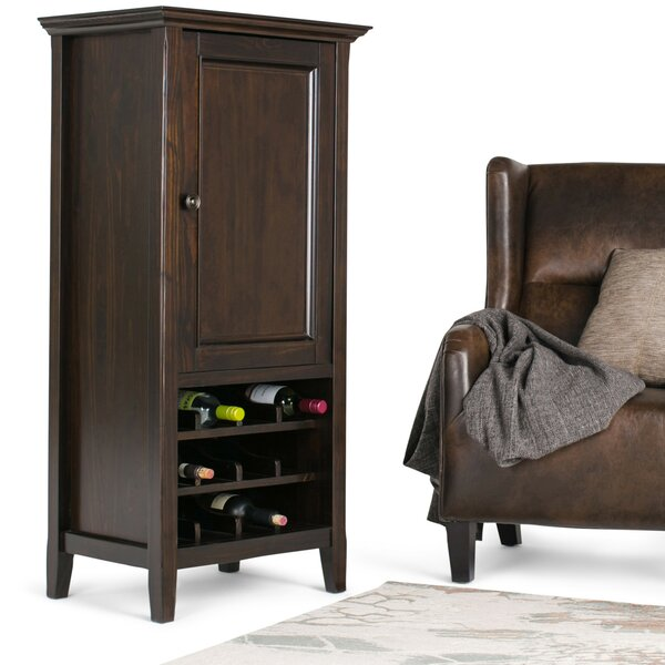 Mccoppin 12 Bottle Floor Wine Cabinet by Alcott Hill Alcott Hill