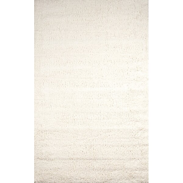 Stephengould Handmade Shag Cream Area Rug by Latitude Run
