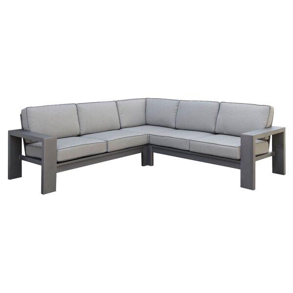 Sherrell Patio Sectional Sofa by Orren Ellis Orren Ellis