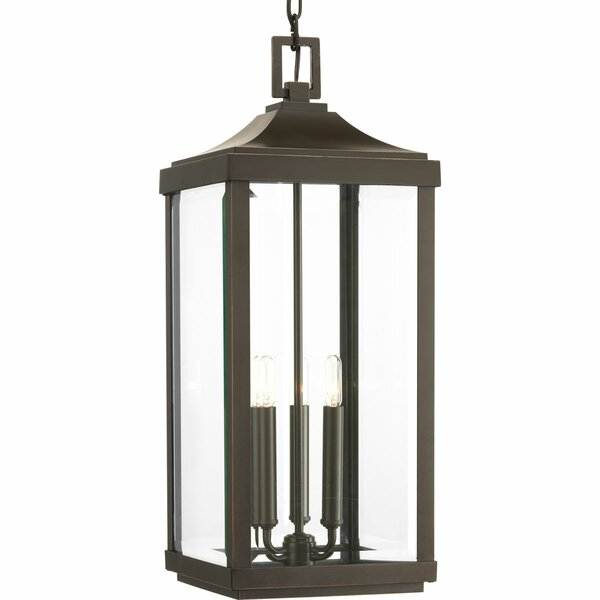 Kinlaw 3-Light Outdoor Hanging Lantern by Alcott Hill