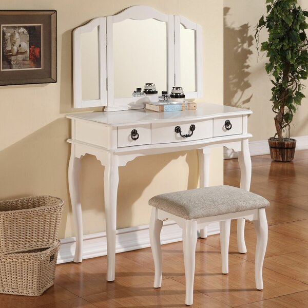 Betty Vanity Set with Mirror by A&J Homes Studio