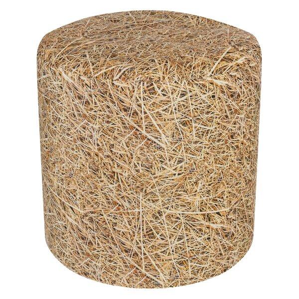 Dotcom Straw Beanbag Pouf By Millwood Pines
