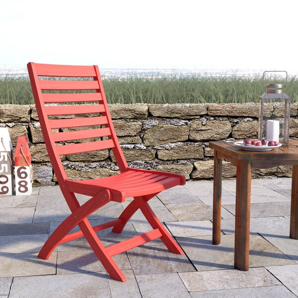 Sabbattus Folding Patio Dining Chair (Set of 2) by Breakwater Bay