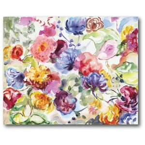 Watercolor Dreamy Flowers I Painting Print on Wrapped Canvas by Courtside Market