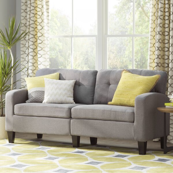 Sorrento Sunflower Gabriela Hand Woven Yellow/Gray/Beige Area Rug by Langley Street