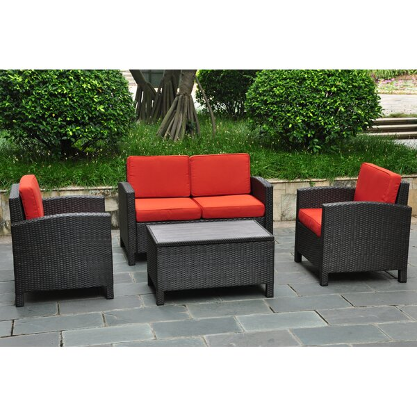 Katzer 4 Piece Sofa Seating Group With Cushions By Brayden Studio