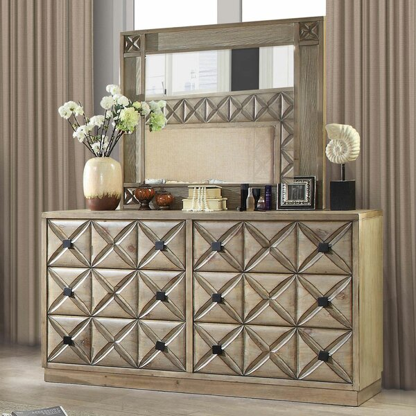 Marilynn 6 Drawer Double Dresser by Bungalow Rose