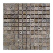 Philadelphia 1 x 1 Travertine Mosaic Tile in Dark Gray by Seven Seas