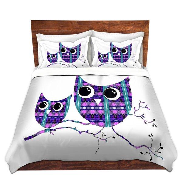 Guildford Susie Kunzelman Owl Suspenders Purple Blue Microfiber Duvet Covers