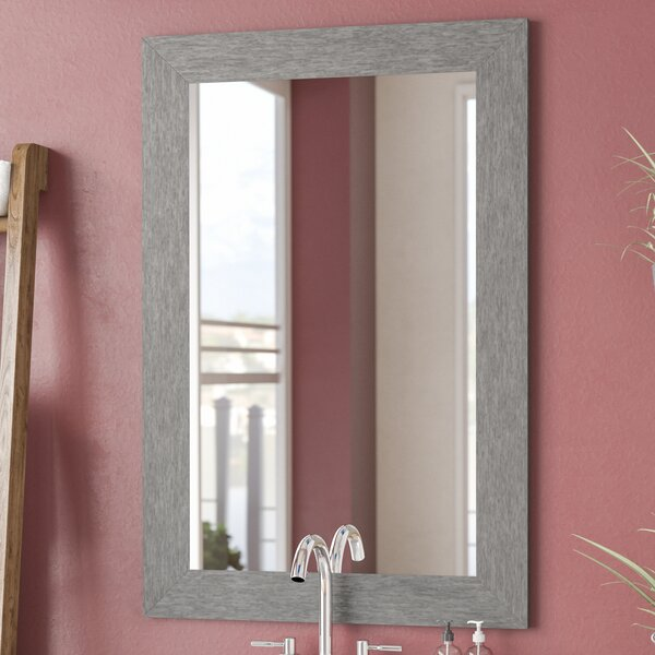 Brushed Silver Wall Mirror by Brayden Studio
