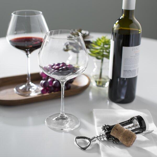 Viola Burgundy Wine Glass (Set of 6) by Red Vanilla