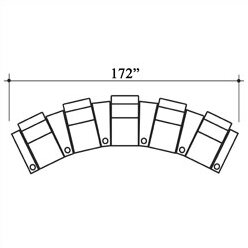 Deco Penthouse Leather Home Theater Row Seating (Row Of 5) By Bass