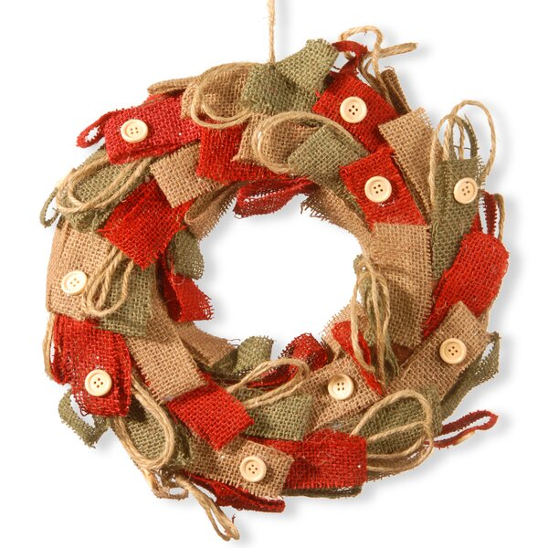 12 Burlap Decorative Wreath by National Tree Co.