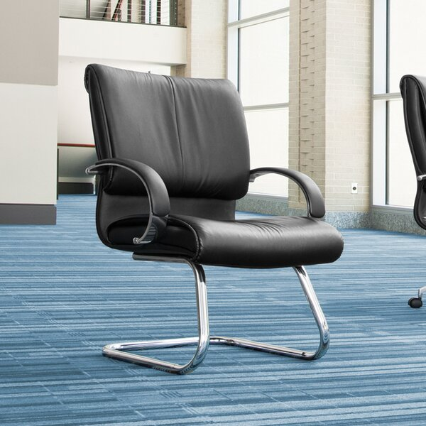 Sharp High-Back Leather Executive Chair by OFM