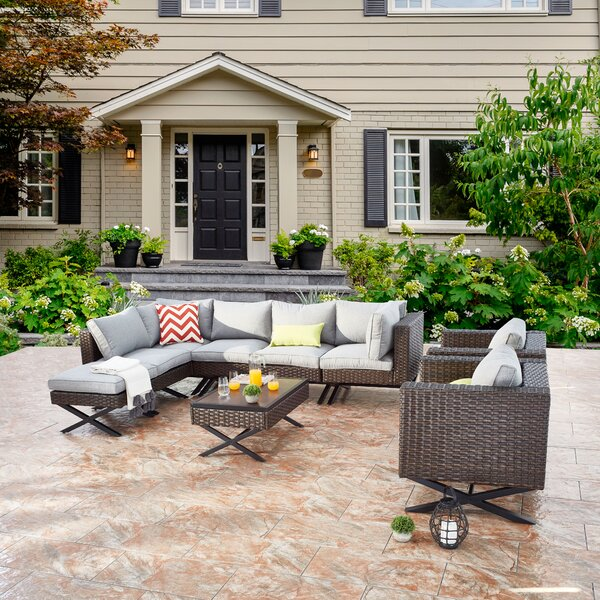 Rimersburg 10 Piece Sectional Seating Group with Cushions by Latitude Run