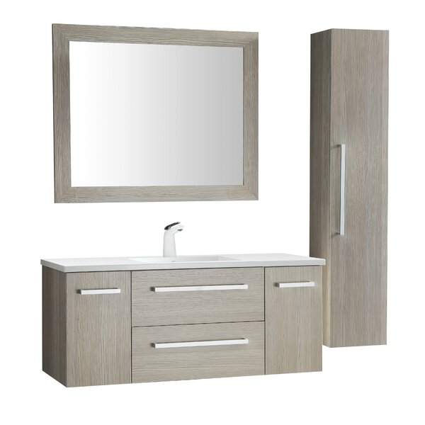 Engram 48 Single Bathroom Vanity Set with Mirror by Orren Ellis