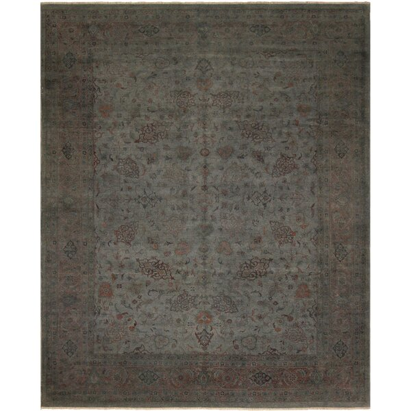 One-of-a-Kind Abbott Over Dyed Hand-Knotted Wool Gray Area Rug by Isabelline