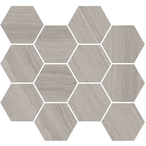 Coastline Monterey 3.5 x 3.5 Porcelain Mosaic Tile in Gray by Madrid Ceramics